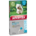 BAYER ADVANTIX SPOT ON*4PIP 1 0ML 4 10KG 4 PIPETTE