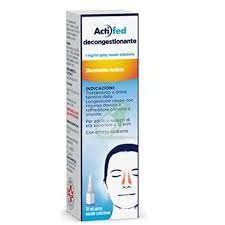 Actifed Decongest 1 Mg/Ml Spray Nasale, Soluzione 1 Flacone Hdpe Da 10 Ml