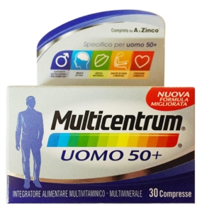 Multicentrum Linea Vitamine Minerali Over 50 Uomo 50+ Integratore 30 Compresse
